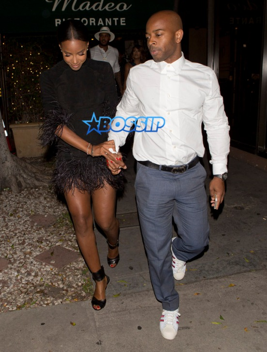 Kelly Rowland husband Tim Witherspoon dinner Madeo's La La Carmelo Anthony Ciara Russell Wilson