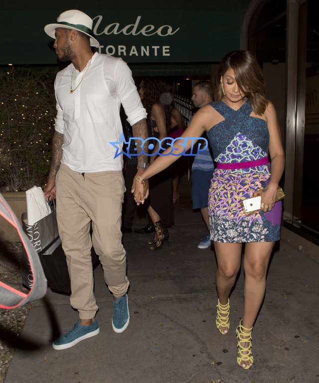 La La Carmelo Anthony dinner Madeos Kelly Rowland husband Tim Witherspoon Ciara Russell Wilson