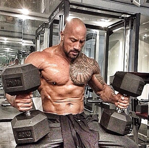 Dwayne The Rock Johnson shirtless
